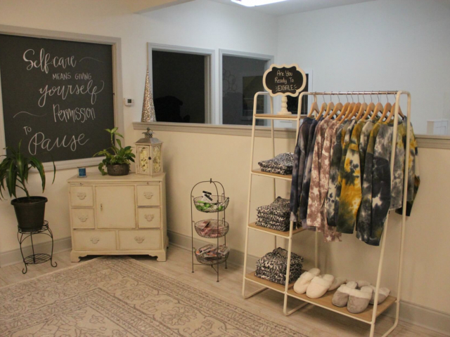 Clothes at boutique inside Exhale Day Spa