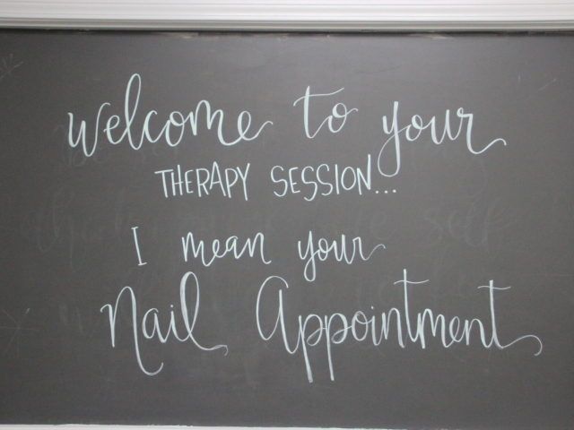 Sign for nail appointment
