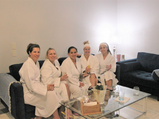 Girls day at the spa